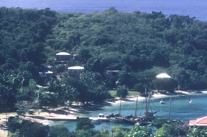 Cruz Bay c1958 detail